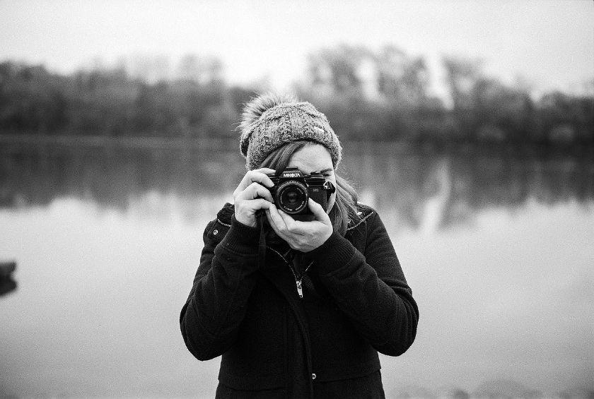 Black and White Travel Photo