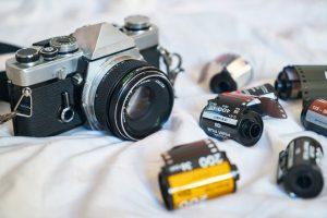 Minolta Analog Camera With Films